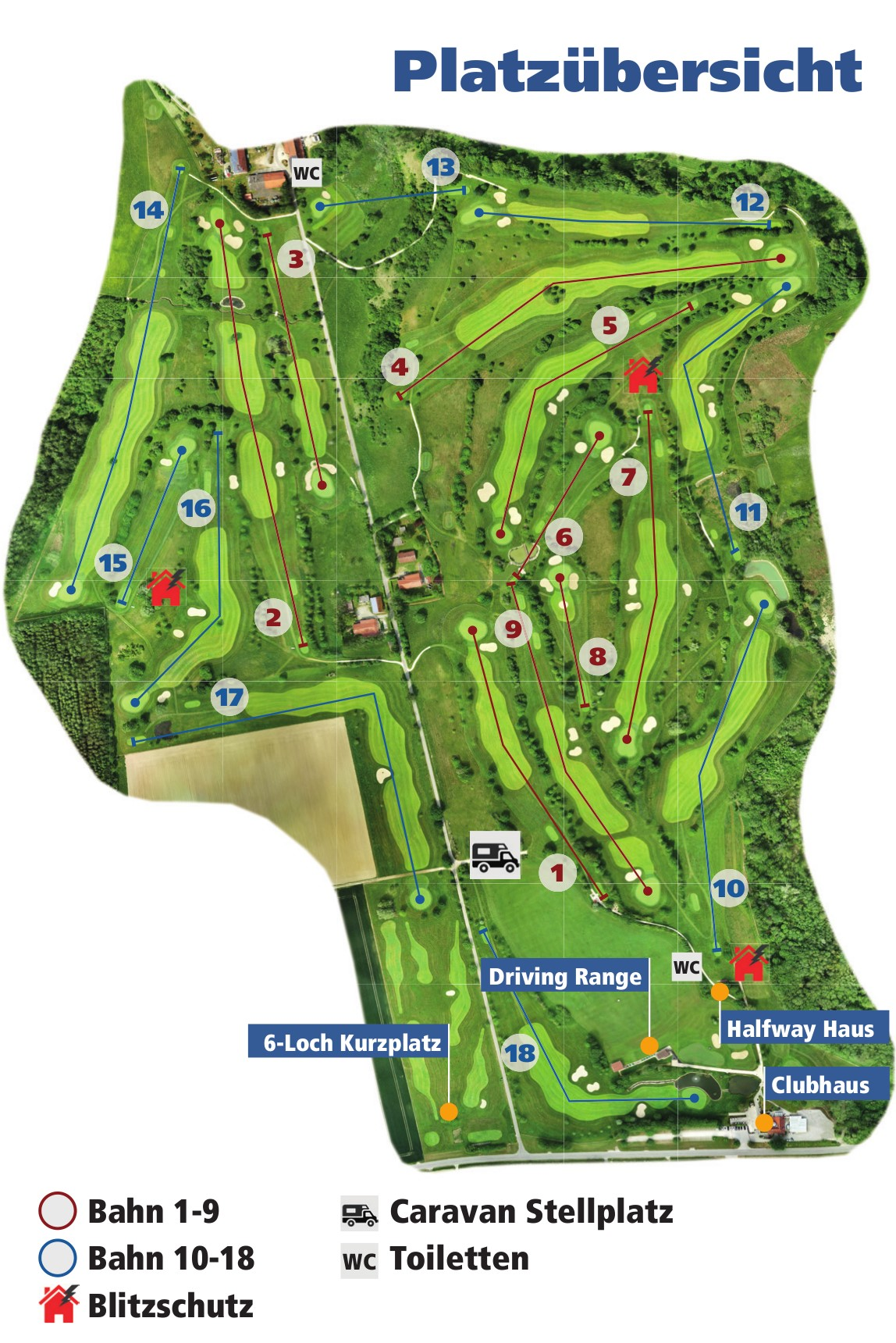 Golfclub Sigmaringen Anlage Platzübersicht